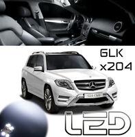 MERCEDES GLK X204 PACK 18 Ampoules LED Blanc plafonnier Coffre Miroir sols porte