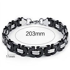 bracelet chaine de vélo / moto acier inoxydable bijou mode taille 203 mm L 11mm