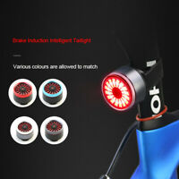 Smart Bike Bicycle Tail Rear Light USB Charging Stop Brake Sense LED Rear Lamp