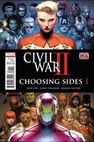 Civil War II Choosing Sides #1 Captain Marvel comic 1st Print 2016 unread NM