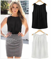 Fashion Women Summer Loose Sleeveless Casual Tank T-Shirt Blouse Tops Vest aa US