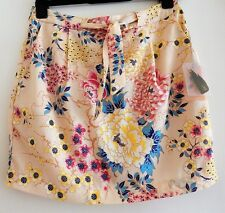 Forever 21 BNWT Floral beige Cream Multi Skirt Size UK S