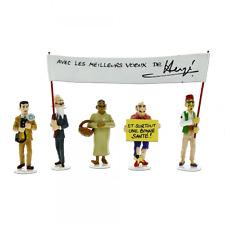 Hergé Tintin – « Carte de voeux 1972″ – Set de figurines Série 5