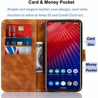 Motorola Moto Z4 Play Wallet Case Leather Flip Folio Protective Card Slots Stand
