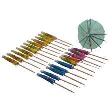 24 X Accessoires decoratifs Petits parapluies/ombrelles/parasols en papier Pour