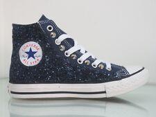 Converse all star glitter blu borchie navy blu  artigianali