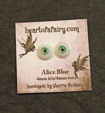 Glass Like Eyes - 4mm iris 6mm eyeball - color-Alice Blue - Doll Making