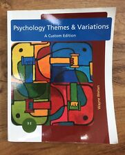 Psychology Themes And Variations A Custom Edition 9th Edition By Wayne Weiten