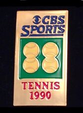 CBS Sports Media Pin Badge~1990~Tennis~NEW!!!  & Vintage!!!!!!