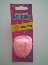 Package of 12 Bride To Be pink balloons New Bachelorette Party