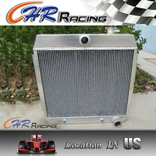 3 ROW Aluminum Radiator for CHEVY BEL AIR V8 W/COOLER 1955 1956 1957