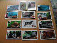 13 WWF-Tiersammelbildchen von Rewe
