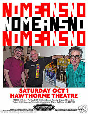 NOMEANSNO 2011 PORTLAND CONCERT TOUR POSTER -Punk Rock Music