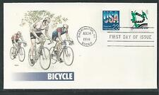 # 3229 PRESORTED STAMP, BICYCLE 1998 FLEETWOOD First Day Cover