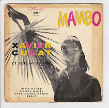 """CUGAT Xavier Vinyle 45T EP 7"""" GIPSY MAMBO - PARK AVENUE MAMBO - MERCURY 14017"""