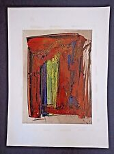 Nguyen Manh Duc Ducman signed abstract composition c. 1950-60 INV 2655