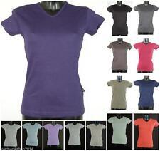 Markenlose Damen-T-Shirts mit V-Ausschnitt