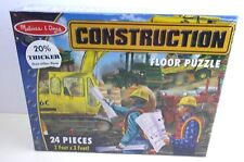 Melissa and Doug Puzzle Construction Extra Large Floor 24 Pieces Jigsaw