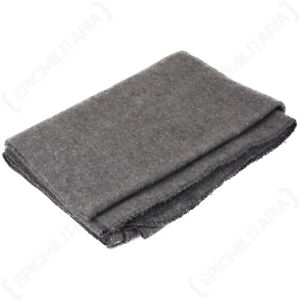 Original Grey Disaster Blanket Wool Wooly Winter Throw Cover Camping Emergency