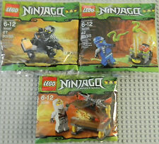 Lego Ninjago Lot Cole Jay & Zane 30085 30086 30087 NEW Sealed, 2012 Retired Sets
