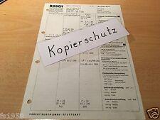 Mercedes Benz W 108  280 SE, 280 SEL 3,5 ab Bj. 03.71 , orig. Bosch Testwerte