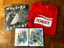 """Torky Tork Shirt, T9 Vinyl """"Maestro Antipop"""" & 2 von Doz9 gemalte Einzelstücke"""