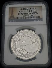 2013 France Silver Snake NGC PF 70 UC French PF70 Population-11