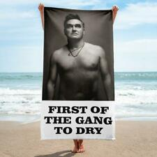 Morrissey - FIRST OF THE GANG TO DRY - Large Text - Beach Towel - The Smiths