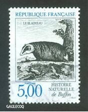 FRENCH POSTAGE - LE BLAIREAU HISTOIRE NATURELLE STAMP 5,00 POSTES FRANCE 1988