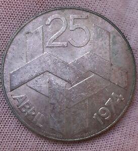 Portugal 250 escudos 1974 Large silver coin