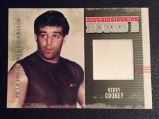 Gerry Cooney lotta indossato ROBE SWATCH PUGILATO cimeli CARD BORDO RING ROUND 2