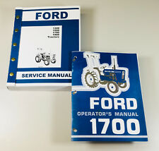 SET FORD 1700 TRACTOR SERVICE OPERATOR MANUALS TECHNICAL REPAIR MAINTENANCE SHOP