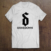 Shinedown Brent Smith Logo Rock Band Men's Black White T-Shirt Size S-2XL