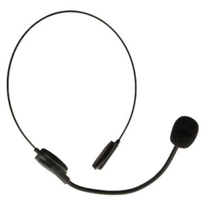 Adult Black Headset Mic Microphone Toy Fancy Dress Cosplay Costume Accessory