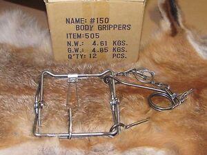 1 Bridger 150 Magnum Body GrippersTraps 505  Muskrat  Mink Fisher new sale