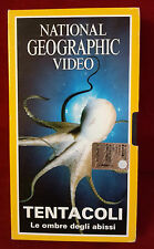 CS7> FILM VHS NATIONAL GEOGRAPHIC VIDEO TENTACOLI LE OMBRE DEGLI ABISSI