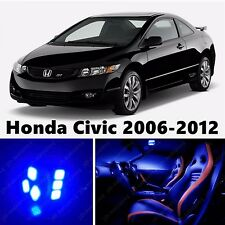 8pcs LED Blue Light Interior Package Kit for Honda Civic 2006-2012