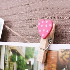 Clips Banner Peach Heart Clips Wedding Decoration Wooden Craft Decoration Pegs
