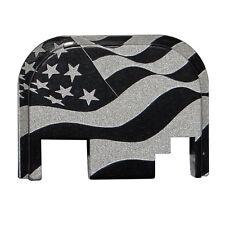Wavy USA Flag Slide Cover Rear Back Plate for most Glock Gen 3 or 4