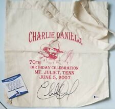 CHARLIE DANIELS SIGNED BECKETT BAS CERTIFIED AUTOGRAPHED COUNTRY MUSIC BAND COA