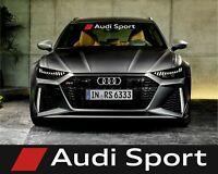 Audi Sport Windscreen Vinyl Decals Graphics Stickers Custom Tuning A1 A3 A4 A6