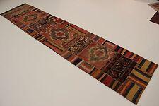 nomades patchwork délavé look antique PERSAN TAPIS tapis d'Orient 4,44 x 0,95