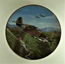 P-40 Flying Tiger Plate Great Fighter Planes Of World War Ii Raymond Waddey
