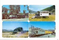 (4) Railroad Steam engine Postcards, from an estate, never used