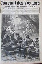 JOURNAL DES VOYAGES 478 de 1886 EXPEDITION NIGER SOUDAN MARINE ESCADRE TOULON