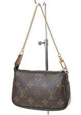 Authentic LOUIS VUITTON Mini Accessory Pochette Monogram Clutch Bag #36358