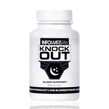 Infowars Life™ Knock Out Sleep Support | Melatonin & GABA Formula (30 Capsules)