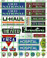 7037 DAVE'S DECALS CITY SIGNS POLICE SHERIFF HOSPITAL FURNITURE THE Y TAXI BANK
