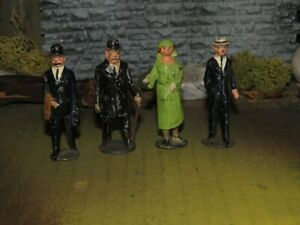 JOHILLCO LEAD TOY TRAIN FIGURES LOT OF 4-ENGLAND -1940'S