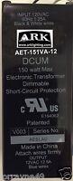GE LIGHTECH GELT150A12012RSL LET-151 ELECTRONIC TRANSFORMER 110>12 VOLT AC 150W